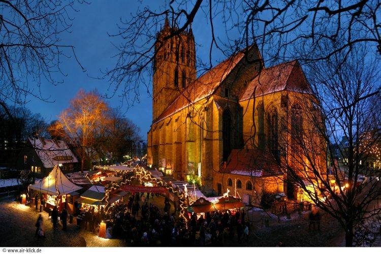 Kerstmarkt In Munster In Duitsland