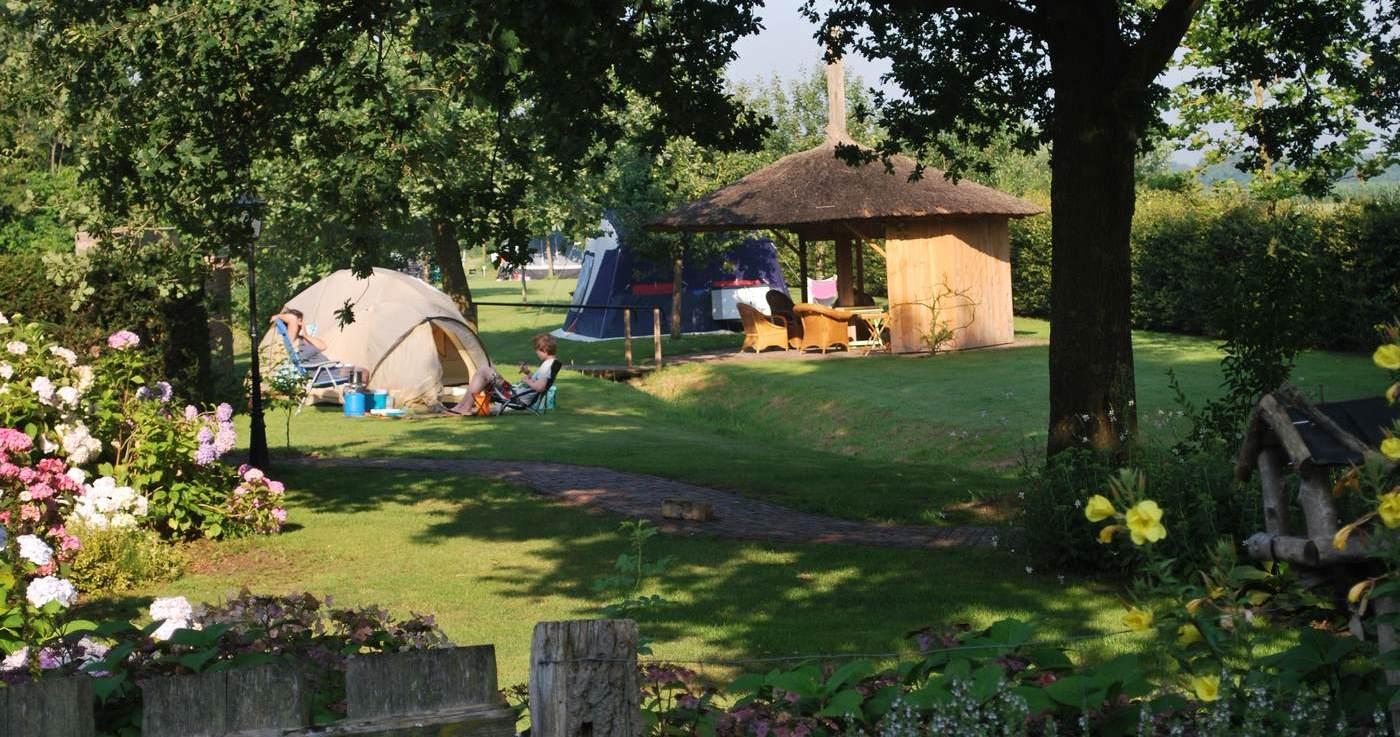 Camping Erve Wisselink in Eibergen Achterhoek - Charme camping in de wijngaard Gelderland
