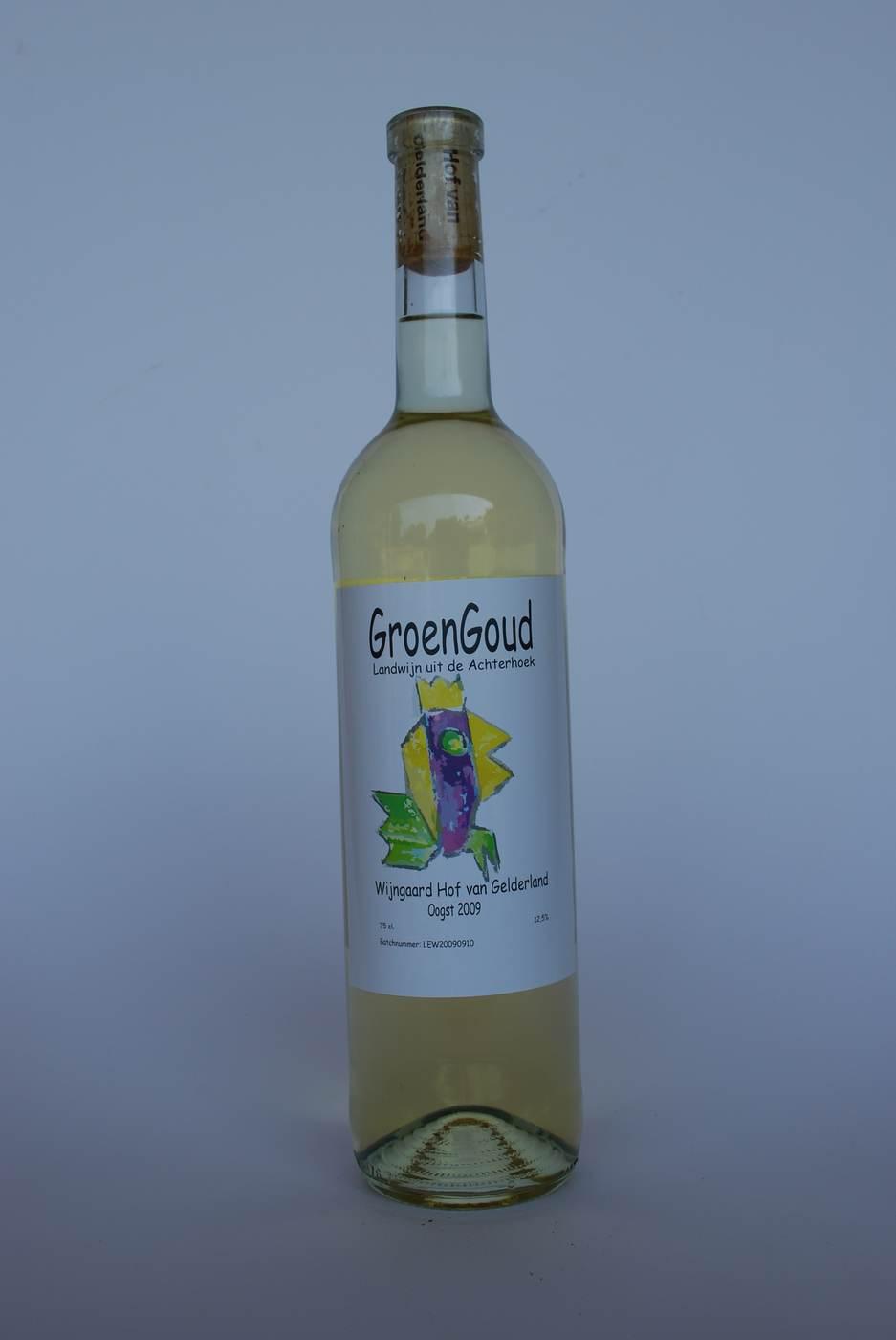 Nederlandse witte wijn van wijngaard Erve Wisselink Eibergen -Achterhoek